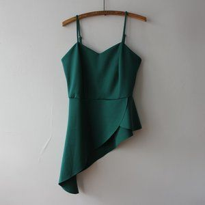 Green/Turquoise Asymmetrical Tank Top